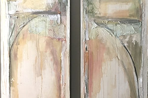 Abstract Diptych by Elizabeth Bryan
